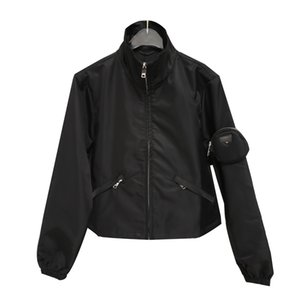 Designer Jacket Mulheres Clothings Moda Mulheres com luva Bolsa 20FW Mulheres Triângulo Invertido Outwear Jacket tamanho cor preta S M L