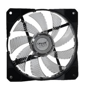 HOT-HXHF Desktop-Computer Silent Fan RGB Chassis Fan 12cm bunte helle Farbe RGB-CPU-Kühler