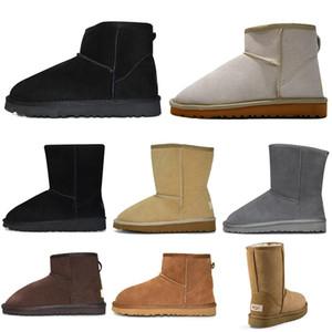 женщины зима снег сапоги мода классических лодыжки стоять на коленах обувь короткого лук меха половина Bowtie загрузка пинетка каштанового кроссовок размер 36-41