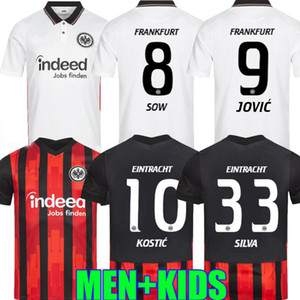 2020 Eintracht Frankfurt Kostic Soccer Jersey Jovic 20 21 Frankfurt Home Kamada Fernandes de Guzman Away Silva Hommes Uniforme de football enfants