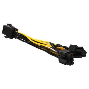 8PIN   6 Pin PCI Express to 2 x PCIe 8 (6+2) pin Motherboard Graphics Video Card PCI-e GPU VGA Splitter Hub Power Cable 20cm
