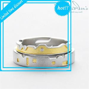 داخل 925 Silver Sky City Rings Rings الإناث التصميم الأصلي الأصفر القلعة الوصي جدار الدائري للرجال النساء Lovers'Jewelry