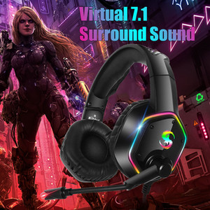 2021 New 7.1 Stereo LED Noise Gaming Headset For PS4 PS5 Gamer Headphone with Mic Noise Cancel Kid PC Computer Over Ear Laptop Tablet Helmet