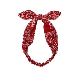 Mujeres itidentes de la cabeza de paisley diseño suave diadema vintage cross nudo elástico Hairbands Bandanas Girls Bandas de pelo Accesorios para el cabello CCA3171