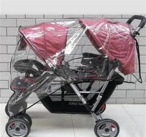 Gemelos Cochecito de lluvia Cochecito de lluvia Protección impermeable Baby Jotchairs Trolley Carriage Accesorios Doble Accesorios de viento