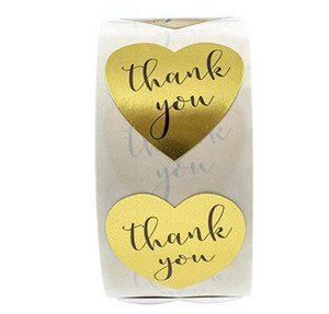 """Round Gold """"THANK YOU for your purchase"""" Stickers seal labels 500 Labels stickers scrapbooking for Package stationery sticker Epacket free"""