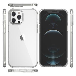 Housse en silicone pour l'iPhone 12 11 Pro X XR XS Max 6 7 8 Plus couverture Cas transparent pour iPhone 2020 antichocs Housse TPU avec boîte de détail