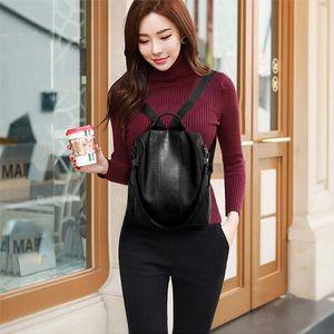 Women Big Brown Backpack Lady Satchel Travel Shopping School Backpack Girl Rucksack vintage Bag