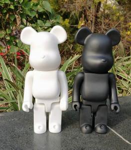 400% 28cm 0.4kg Bearbrick Evasion Evade East Black Bear et White Ours Figurines jouet pour collectionneurs Be @ rbrick art travail modèle décorations cadeau