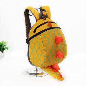 INSULAR Children Kids Boys Girls Fashion Cute Cartoon 3D Dinosaur Shoulder School Bags New Anti lost Childrens Backpack 45