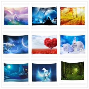 Nuovo INS Arazzo Nordic muro arazzi Colorful Wall Art pittura Telo tappeto Yoga Mat Sofa Cover Home Decor Blanket BWA1021