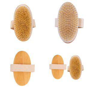 Soft Natural Brish Brush Bath Massage Body Family Ducha DIY Wooden No Hand Shank Cepillos Nueva Llegada 3 95OL G2