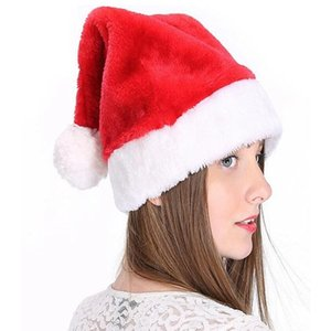 Christmas Cosplay Hats Velvet Soft Plush Santa Claus Hat Warm Winter Adults Children Xmas Cap Christmas Party Supplies