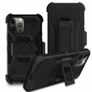Caso con clip de cinturón para Iphone 12 Mini 12 Pro XR XS MAX X 8 7 6 Galaxy S10 S10e Funda a prueba de golpes armadura duro híbrido de PC + TPU de Altas Prestaciones