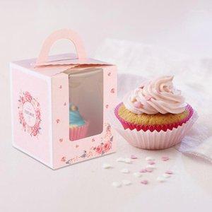50pcs 휴대용 단일 디자인 케이크 상자 종이 컵 케 잌은 포장 상자 파티 용품 1