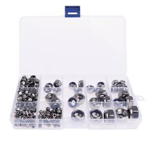 Metric 304 Stainless Steel Nylon Lock Nuts Assortment M3 M4 M5 M6 M8 M10 M12