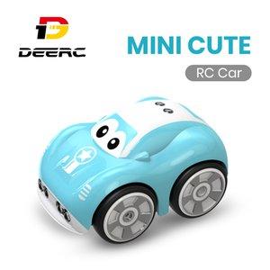 DEERC DE33 Mini lindo RC que compite con los muchachos 25 minutos Aotu Seguir track Ruta eléctrico de control remoto juguetes de coches para niños de los niños