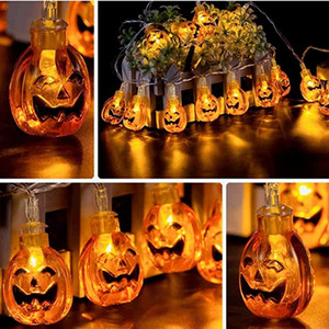 Halloween Decor Pumpkin String Lights 1.5M 3M 40 LEDs Battery Operated Halloween Light Outdoor Decoration For Patio Garden Gate Yard HH9-335