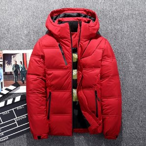 Fashion Brand Top Quality Thicken Winter White Duck Jacket Men Light Hooded Clothing 4 Color Coat Plus Size 3xl Down Parka