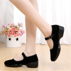 Cross-Border Supply New Old Beijing Cloth Shoes Low-Cut Shoes Womens Hotel Etiquette Black Dance Shoes Women