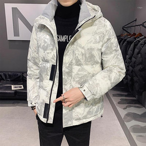 Men's coat 2020 winter new Korean Short hooded bread suit thickened work clothes down jacket1