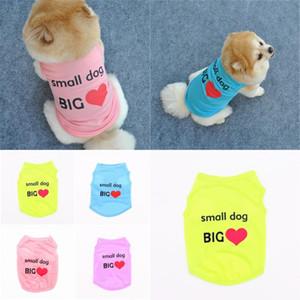 Comfort Pet Applele Письма Собаки Одежда Одежда Щенок Щенок Поставляет Прекрасное Любовь Сердце Небольшая собака Большая 2 5ye F2