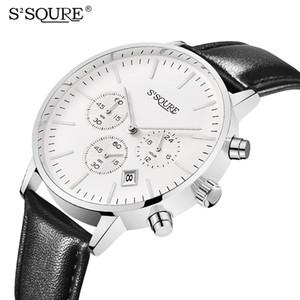 2020 Men's Charm Top Simple y elegante Impermeable Reloj Mecánico Mecánico Masculino Relojes de Negocios Reloj Negro Cuero