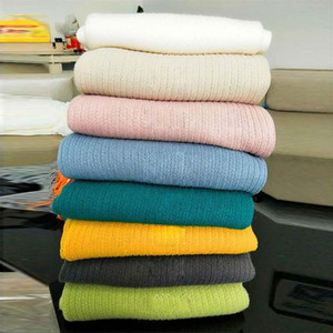 Artificial Wool Thread Knitted Blanket with Tassel for Sofa Bed Coverlet Summer Air-conditioning Quilt Manta