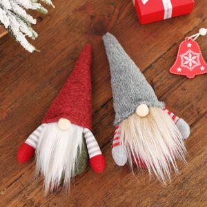 10pcs de Natal Handmade Swedish Gnome escandinavo Tomte de Santa sem rosto ornamento ornamento boneca Nordic Plush Toy Xmas Tree Decor
