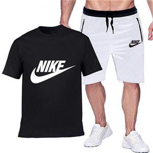 NIKE Mens Survêtement Set Summedesigner Brar Tenues deux pièces Ensemble T-shirt Homme Shorts Survêtement Hommes Loisirs Fitness Joggers SportswearX