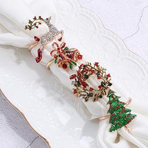 2020 Metal Christmas Салфетка Ring Hotel Банкет Таблица украшения Лук цветов Венок Mouth кольцо Свадьба Крафт кухонный инвентарь