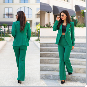 New Spring Leisure Mother of the Bride Pants Suit Women Ladies Formal Evening Party Tuxedos Formal Work Wear For Wedding 2 pcs