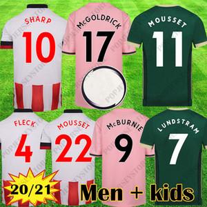 Yeni 20 21 SUFC Futbol Formaları Mousset Sheffield Kitleri McBurnie Birleşik 2020 2021 Lundstram Fleck Futbol Gömlek Norwood Erkekler Çocuk Ekipmanları