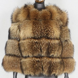 FURBELIEVE Natural Raccoon Fur Winter Jacket Women Big Fluffy Real Fur Coat Thick Warm Outerwear Streetwear Removable Vest Y201012