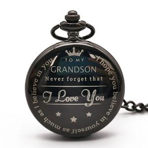 Vintage Diseño Para mi nieto de cuarzo relojes de lujo poeta nelace cadena poeta Relojes en regalos para mujer para hombre de los muchachos