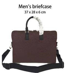 "Briefcase da uomo Briefcase Cartella Caffè Grid Portable Business Casual Spalla CAN Adatta 15 ""Laptop 5 tasche Borsa a tracolla Borsa da uomo Borsa da uomo"