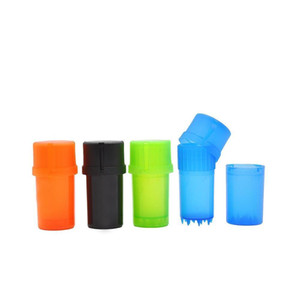 Prix usine Boudre d'herbe en plastique 3 couches Concasseur en plastique dur Herbal Spice broyeurs Tobacco Storage étui Mini Conserver sur la main 8RZUX