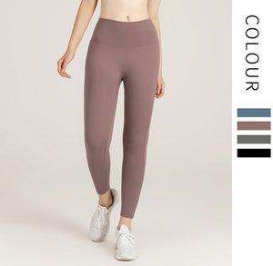 Roupas de Yoga Mulheres Calças 2021 Solid Sportswear Mulher Stretch Stretch Tight Sports Sports Fitness Calças roupas