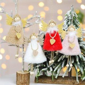 Christmas Angle Pendant Xmas Tree свисающего Украшение кукла Украшение Для дома Подвесок подарков Нового года Navidad Party Supplies CCD2122