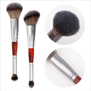 Double Head Face Makeup Brush For Foundation Highlighter Bronze Eye shadow Blush Power Facial Beauty Makeup Cosmetic Tools
