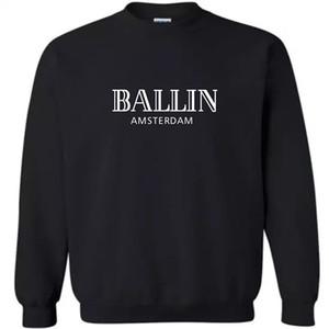 Hoodies O-Neck 100% coton hommes manches longues Mode Ballin Amsterdam hommes et femmes sweat-shirt Imprimer