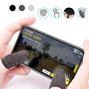 2pcs Finger Cover Cell Phone Game Controller Sweat Proof Non-Scratch Sensitive Touch Screen Gaming Finger Thumb Sleeve Gloves