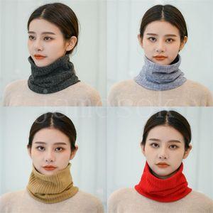 Новая осень и зимняя густая теплый шейный шарф цветной шеи защитная крышка вязание шерсти шарф для мужчин и женщин DB188