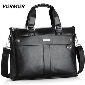wholesale 2020 Men Briefcase Business Shoulder Bag Leather Messenger Bags Computer Laptop Handbag Bag Men's Travel Bags