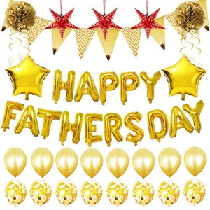 Father's Day Letter Balloon Set Happy Father's Day Letter Aluminum Foil Balloons Latex Balloons Birthday Party Wedding Decor BWD26