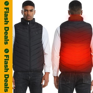 Winter Heating Vest Men Smart Warm Male Vest Coat Women USB Infrared Electric Heated Outwear Couples Thermal Hunting Jackets Boy