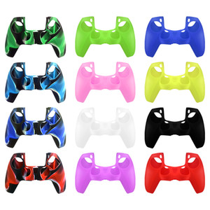 New Silicone Cover Case For PS5 Handle Camouflage Colorful Dustproof Sweat-proof Protective Anti-Slip Handle Sleeve For PlayStation