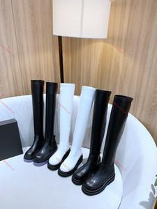 Bottega veneta boots Les dernières bottes de luxe MID-CALF BOTTES DANS LA TEMPÊTE plate-forme de mode inluxe Ladies CUIR design chaussures taille 35-40