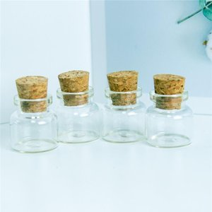 30*30*17mm 10ml Mini Glass Bottles With Cork Small Transparent Clear Tiny Empty Glass Vials Jars Corks Cute Bottles 10 bbyXdl
