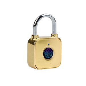 Fingerprint Lock USB Security Rechargeable Padlock Door Thumbprint Anti-theft Electric Door Lock for Luggage Case
